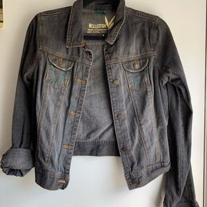 Hollister black denim jacket